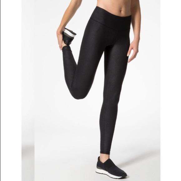 8afe1e630ae20 ALO Yoga Pants | Black Glossy High Waist Airbrush Legging | Poshmark